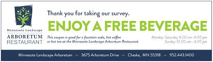 mn landscape arboretum survey coupon