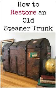 travel trunks images How to restore an old steamer trunk in a few simple steps jpg