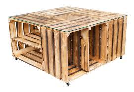 Wohnzimmer Tisch Holzkiste Wohnbereiche Tisch Aus Versch Geflammten Schuhkisten