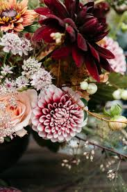 Wedding Flowers Fall Colors - woodland luxe wedding inspiration with fall colors ruffled