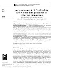 an assessment of food safety knowledge and practices of catering