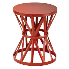Garden Bar Table And Stools Hton Bay 18 9 In Metal Garden Stool In Chili Hd16023d