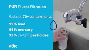 Pur Vs Brita Faucet Water Filter Pur Lead Reducing Water Filters Youtube