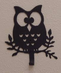 owl wall hook owl decor owl gift metal art owl wall art owl towel