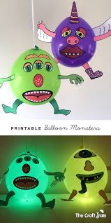 halloween led balloons printable balloon monsters the craft train