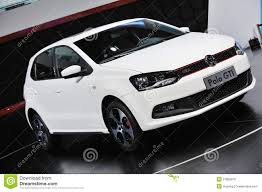 white volkswagen white vw polo gti editorial stock photo image 27860878