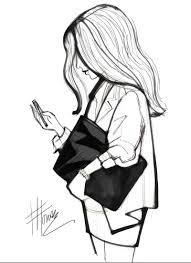 fashion illustration sketches black and white