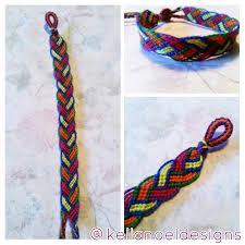 friendship bracelet rainbow images Rainbow braided leaves design friendship bracelet kella noel jpg