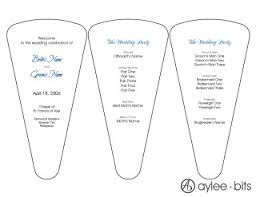 wedding programs fans templates diy fan programs aylee bits