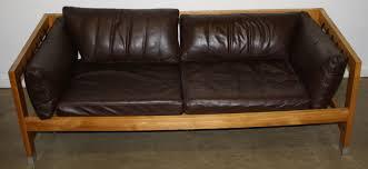 mid century leather floating sofa 1 jpg merrill u0027s auction