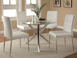 round glass top tables 42 inches dining table round glass dining table and 4 white chairs round