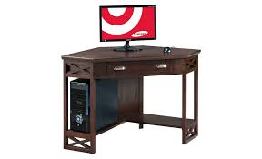 corner computer desk chocolate cherry leick furniture flashy