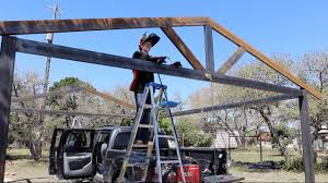 Open Carport by Building A Metal Carport Part 1 Youtube