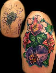 colorful flower tattoo cover up tattoomagz
