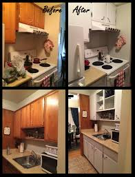 Easy And Cheap Rental Kitchen Makeover A Fresh Coat Of Paint On The