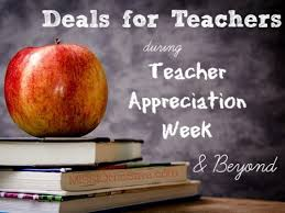 deals for teachers during appreciation week and beyond