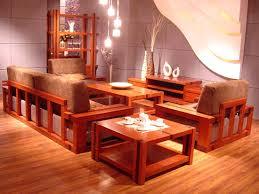 Solid Wooden Living Room Furniture Sets Decor Crave - Wooden sofa designs for drawing room