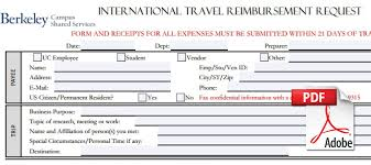 Travel Expense Report Excel by Business Operations Travel Uc Berkeley Division Of Student