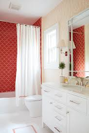 Shower Curtains With Red White Shower Curtain With Red Border Design Ideas