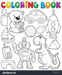 coloring book toys thematics 2 eps10 stock vector 239063083