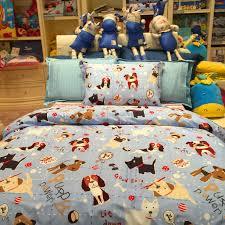 Dog Duvet Covers 3 Piece Kids Bedding Set Puppy Family Duvet Cover Bed Sheet