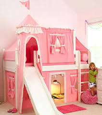 Girls Princess Canopy Bed by Bunk Beds With Slides For Children Bunk Bed Castle Bed And Room