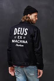 deus ex machina workwear jacket in black for men lyst