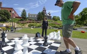 a nice day for a game of chess at bellingham u0027s maritime heritage