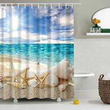 Seashell Fabric Shower Curtain 42 Best Shower Curtains Images On Fabric Shower