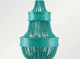 turquoise beaded chandelier wood beaded chandelier affordable wood beaded chandelier