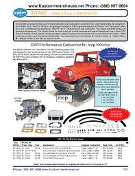 empi carburetor conversion kit 32 36 e a m epc progressive for