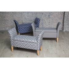 Upholstered Storage Bench Light Grey Upholstered Storage Bench With Arms