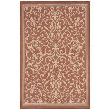 Terracotta Area Rugs by Baxter Elegant Vine Terracotta 4 Ft 10 In X 7 Ft 6 In Indoor
