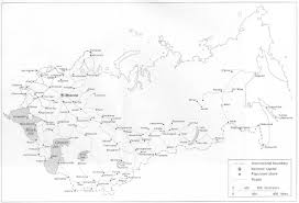 Blank Russia Map by Maps Of The Soviet Union