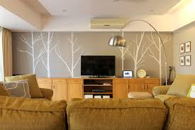 Tree Wall Decals For Living Room Hello Again Winter Tree Wall Decal Living Room Before U0026 After