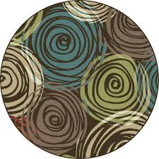 Brown And Turquoise Area Rugs Brown Contemporary Circles Area Rug Modern Geometric Swirls Multi