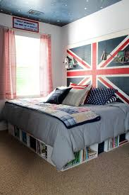 White Painted Headboard by Kids Bedroom Inspiring Headboard Design Of Boy With England Flag