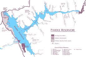 Lakeview Oregon Map by Pardee Lake Recreation Boating Fishing Camping Picnicking