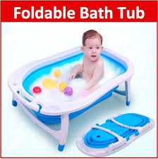 Baby Foldable Bathtub Qoo10 Baby Foldable Bath Tub Infant Toiletries Portable Newborn