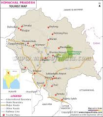 map of us vacation spots travel to himachal pradesh tourism tourist map