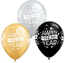 happy new year balloon happy new year silver gold black balloons 8 pack