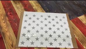 Star Flag Maker Diy Fifty Star Stencil American Flag The Furrminator