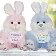 personalized easter bunny personalized easter bunnies stuffed bunnies giftsforyounow