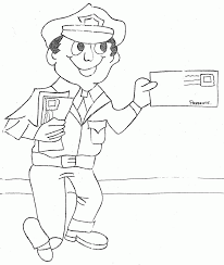 mailman hat coloring page 16 mail coloring pages mail man coloring page sketch coloring page