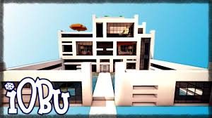 Modern Houses Minecraft Modern House With Super Pool Minecraft Timelapse Modern House