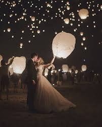 wedding send ideas sky lanterns make a magical wedding send and a pretty