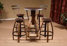 Wine Barrel Bar Table Metal Top Bistro Wine Barrel Table Barrel Bistro Table With Wine