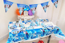 film elsa anak 6 set new luxury baby happy birthday party packs supplies decoration