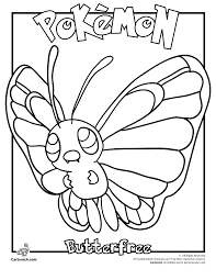 butterfree pokemon coloring woo jr kids activities