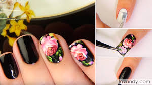 how to apply black flower nail decals u2013 tutorial